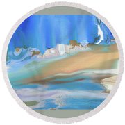 Tropical Beach Abstract Round Beach Towel