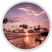 Tropical Beach Round Beach Towel