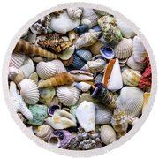 Tropical Beach Seashell Treasures 1500a Round Beach Towel