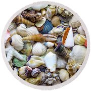 Tropical Beach Seashell Treasures 1529b Round Beach Towel