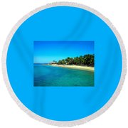Tropical Bliss Round Beach Towel by Betty Buller Whitehead