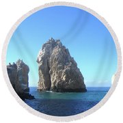 Tropical Blues Round Beach Towel