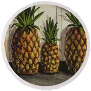 Tropical Bounty Round Beach Towel