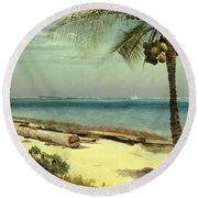 Tropical Coast Round Beach Towel