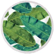 Tropical Colors 2 Round Beach Towel by Mark Ashkenazi