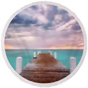 Tropical Drama Round Beach Towel