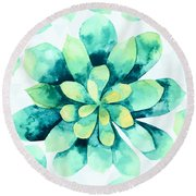 Tropical Flower  Round Beach Towel
