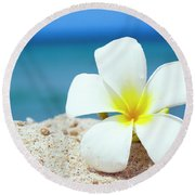 Tropical Flower Round Beach Towel