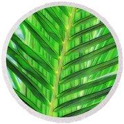 Tropical Foliage Round Beach Towel
