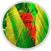 Tropical Fusion Round Beach Towel by Stephen Anderson