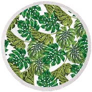 Tropical Haven  Round Beach Towel by Mark Ashkenazi