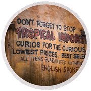 Tropical Imports Round Beach Towel