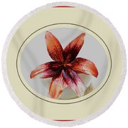 Tropical Lily Round Beach Towel