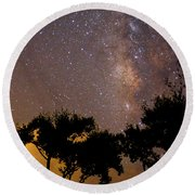 Tropical Milky Way Round Beach Towel