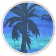 Tropical Night Round Beach Towel