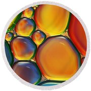 Tropical Oil And Water II Round Beach Towel