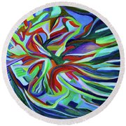 Tropical Reef Round Beach Towel