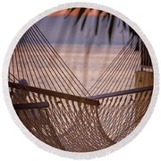 Tropical Relaxation Round Beach Towel