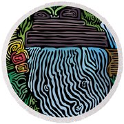 Tropical River Round Beach Towel