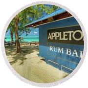 Tropical Rum Bar Round Beach Towel