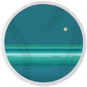 Round Beach Towel featuring the digital art Tropical Seas by Val Arie