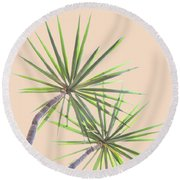 Tropical Serenity Round Beach Towel