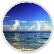 Round Beach Towel featuring the photograph Tropical Storm Brewing by Gary Wonning
