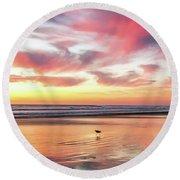 Tropical Sunset Island Bliss Seascape C8 Round Beach Towel