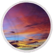 Tropical North Queensland Sunset Splendor  Round Beach Towel