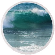 Tropical Treasure Coast Florida Seascape Wave 99 Round Beach Towel