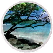 Tropical Utopia  Round Beach Towel