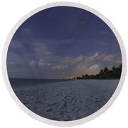 Tropical Winter Round Beach Towel by Christopher L Thomley