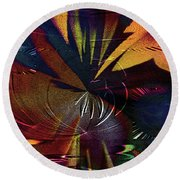 Round Beach Towel featuring the digital art Tropicale by Paula Ayers