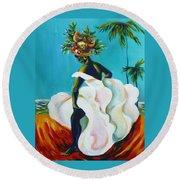 Tropicana Round Beach Towel by Anna  Duyunova