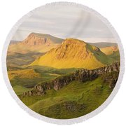 Trotternish Summer Panorama Round Beach Towel
