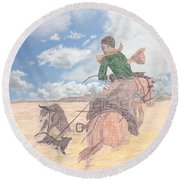 Trouble In Bunches Classic Round Beach Towel