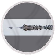 Trouble In Calm Waters Round Beach Towel