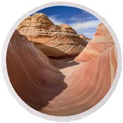 Trough Of The Wave Round Beach Towel