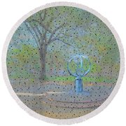 Troup Square  Round Beach Towel