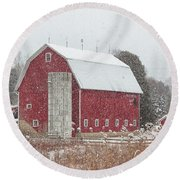 Round Beach Towel featuring the photograph Dressed For Christmas by Rod Best