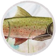 Trout Round Beach Towel