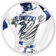Troy Tulowitzki Toronto Blue Jays Pixel Art 2 Round Beach Towel