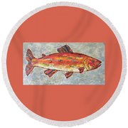 Trudy The Trout Round Beach Towel