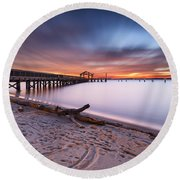 True Blue Round Beach Towel