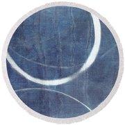 True Blue Ensos Round Beach Towel by Julie Niemela