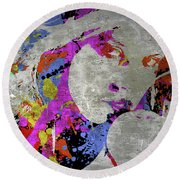 True Colors On Silver Let Me Paint You Round Beach Towel