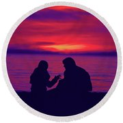 True Confessions Round Beach Towel