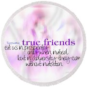 True Friends Round Beach Towel