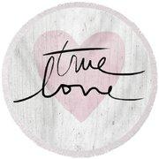 True Love Rustic- Art By Linda Woods Round Beach Towel