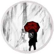 Round Beach Towel featuring the painting Truly All Yours by Leslie Allen
